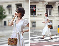 Daisyline . - Zara Bag, Zara Dress, Massimo Dutti Shoes, Ray Ban Sunnies - Summer midi dress / www.daisyline.pl