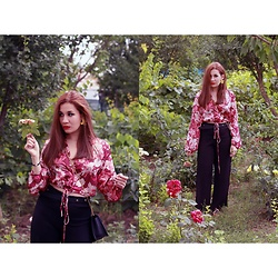 Roxana Ionescu - Local Store Top, Mango Bag, Stradivarius Pants, H&M Earrings, Koton Belt - Garden of Eden.