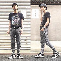 @KiD - Quiet Riot Tee, Obey Cap, Insight Pistol Skinny, Puma The Beast, Nonsensical Bracelet - JapaneseTrash425