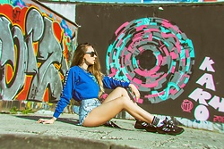 Iwona - Adidas Sneakers, Reserved Socks, Deesem Denim Shorts - SPORT STREET LOOK