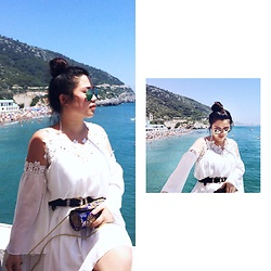 Joyce Wang - Asos White Chiffon Dress - Sitges
