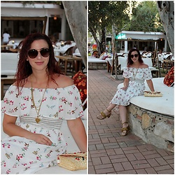 Rebel Takipte - Ami Club Wear Floral Dress - Off the Shoulder