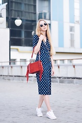 Lisa - Zaful Dress, Zara Bag - Polka dot dress