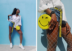 Yara Snow'z - Pull & Bear Yellow Smyle Bag, Zara White Smyle Shirt - Smile_2007
