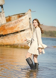 Alyssa Casares - Alyssa Nicole Marlow Dress, Hunter Boots - Sailing Away