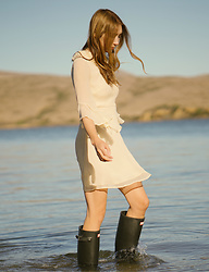 Alyssa Casares - Alyssa Nicole Charlotte Dress, Hunter Boots - Lakeside