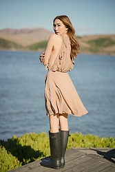 Alyssa Casares - Alyssa Nicole Amelia Dress, Hunter Boots - Glorious Getaway