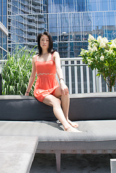 Gi Shieh - H&M Tangerine Cut Out Dress - FORGOT MY SUNNIES T_T (July Lookbook 4)