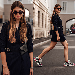 Jacky - Reserved Dress, Balenciaga Sneakers - Blazer Dress and Balenciaga Sneakers