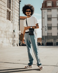 Marco Moura - Zara Pants, Bershka T Shirt, Zara Bag, Asos Sandals, Zara Sunglasses - Summer colors