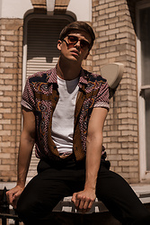 Georg Mallner - Topman Shirt, Asos Tshirt, H&M Pants, Ray Ban Sunglasses - 27 July, 2017