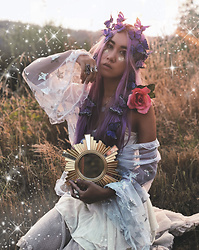 Sera Brand - Shop Easy Tiger Sheer Star Duster, Wild & Free Jewelry Purple Butterfly Crown, Follow Me On Instagram - Stardust ★ Butterfly