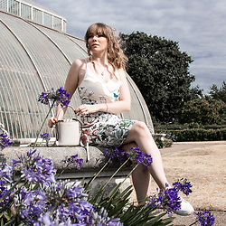 Eloise Alice -  - The white floral print dress at kew gardens