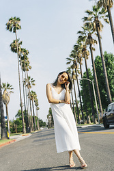 Courtney Y - Oak And Fort White Jumpsuit, Vince Camuto Sandals - Jump into white