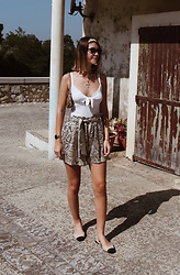 Marion Style - Forever 21 Top, Zara Short, Zara Sandals, Gucci Bag - Python