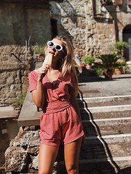Ecaterina Rusu - Zara Playsuit - Ice-cream mood