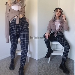 . . - Dr. Martens Vegan Boots, Fashion Nova - In my room