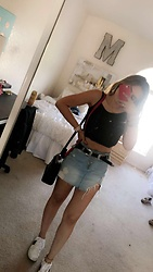Marilyn Tapia - Forever 21 Skirt, Pacsun Crop Top, Steve Madden Sneakers, Express Belt, Gucci Purse - VIBE