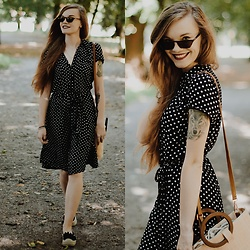 Karolina N. - Zaful Sunglasses, F&F Dress, Rosegal Basket - POLKA DOT
