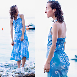 Iva K - H&M Sneakers - Blue dress