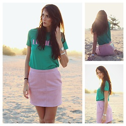 Iris Schlaepfer - Sissy Boy Lumiére Shirt, Costes Pink Skirt - Morning walk in the summer