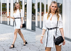 Sunnyinga - Na Kd Shirt, Urban Outfitters Belt, Karl Lagerfeld Bag, Deichmann Mid Heels - Black & White Summer Look