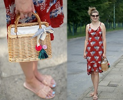 Kamila Krawczyk - Bonprix Dress, Dresslily Bag, Amiclubwear Mules, River Island Earrings - Red summer dress