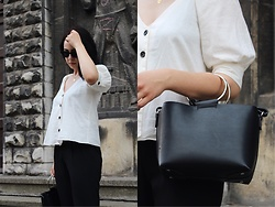 Zuza J. - Zara Linen Shirt, Stradivarius Airy Pants, Zara Bag, Stradivarius Cat Eye Sunglasses - Linen, linen, linen