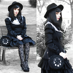 Federica D - Amazon Lolita Dress, Leafling Bags Moon Phases Bag - Moon phases