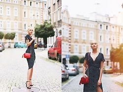 Paulina Dworakowska - H&M Dress, Victoria's Secret Bag, Pretty Little Thing Heels - Polka Dot Dress