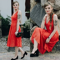 Karolina N. - Reserved Dress, Zaful Bag, Zaful Earrings, Bershka Heels - WEDDING LOOK