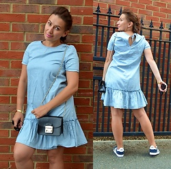 Adriana Style -  - Denim Dress and Adidas