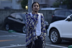 Hideki. Mn - Syu.Homme / Femm Super Arm Shirts Type ネル, Roundabout Tank Top, Bukht Wide Big Denim, Minus Kamon Signet Ring, Minus Square Wallet Chain - Japanese fashion 92