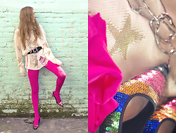 Mariori Macouzet - Forever 21 Belt, H&M Legwear, Zara Sequin Shoes, Unbranded Sweater, Zara Necklace - Daydreaming