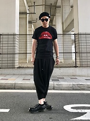★masaki★ - Rocky Horror Picture Show, Monochrome Penguin Pants, Dr. Martens Made In England - Allblack everything💋