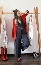 Lyzie McCake - Bershka One Piece, Pimkie Red Jacket, Bershka Red Shoes - Perfect Jumpsuit