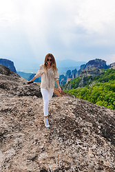 Tamara Bellis - Zara Blouse, Mango Pants, Asos Sneakers - Let's Go To Meteora