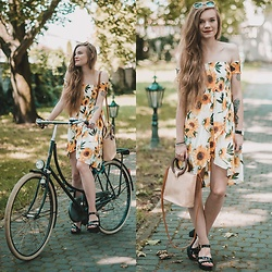 Karolina N. - Zaful Dress, Rosegal Sandals, Rosegal Basket - SUNFLOWER DRESS