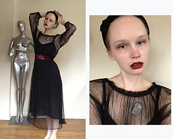 Sarah Wu - Zara Tulle Dress, Hm Velvet Headband - Tim burton's love child