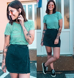 Nina Wirths - Weekday Sunnies, Monki T Shirt, Asos Skirt, Vans Shoes - Happy FRIYAYYY