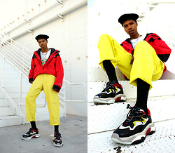 Dominic Grizzelle - Ash Footwear Atomic Sneakers, Urban Outfitters Sun Ray Pants, Gucci Tee - STRAWBERRY LEMONADE