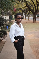Reneilwe Masekoameng - Parfois Sunglasses, Woolworths Men'S Suit Trousers - Girl Meets Boy