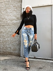 Shanell Holland - Louis Vuitton Speedy, Forever 21 Top - Heads up
