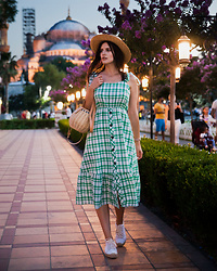 Viktoriya Sener - Shein Dress - GREEN CHECKED DRESS