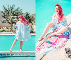 Inês Aniceto - Rosegal Dress, Aldo Sunnies - Dance by the pool