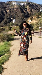 Keisha Campbnell - H&M Floral Dress, Zara Sandals - Hollywood