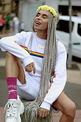 Milex X - Flower Child Evolution Headband, Boohoo Sweatshirt, Boohoo Shorts, Vetements Socks, Buffalo Shoes - PRIDE COLLECTION