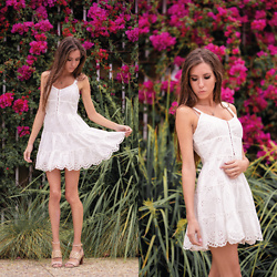 Jenny M - Forever 21 White Eyelet Dress - LIKE A GARDEN IN A DREAM // thehungarianbrunette.com