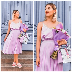 Vlada Avornic - Dilerry Cami Top, Koton Skirt, Aldo Bag, Asos Sneakers - Flowers for me !