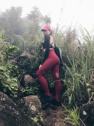 Cassey Cakes - Zaful Leggings, Nike Sports Bra, Adidas Sneakers - Mt Maculot